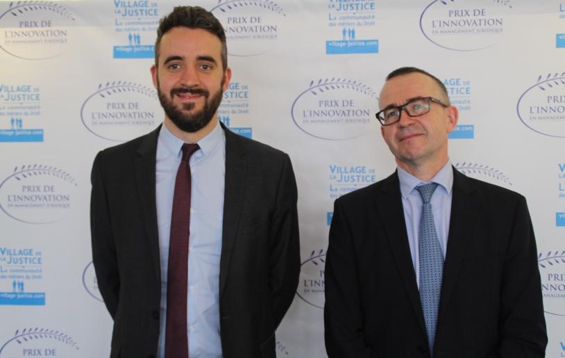 Prix de l'innovation en management juridique 2017 - Julien Mariez et Philippe Clerc (CNES)